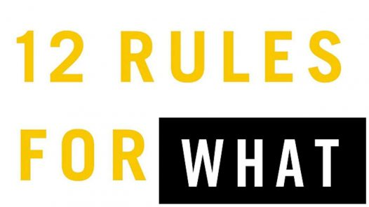 """""""12 Rules for What"""", playing on Jordan Peterson logo"""