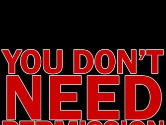 """""""You Don't Need Permission"""" red text on a black background"""